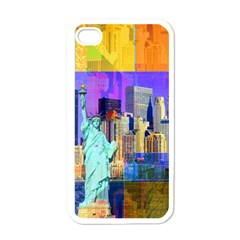 New York City The Statue Of Liberty Apple Iphone 4 Case (white)