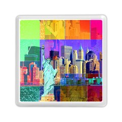 New York City The Statue Of Liberty Memory Card Reader (square)