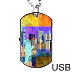 New York City The Statue Of Liberty Dog Tag USB Flash (One Side)