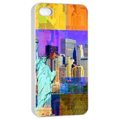 New York City The Statue Of Liberty Apple iPhone 4/4s Seamless Case (White)