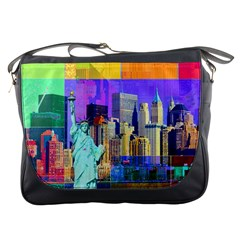 New York City The Statue Of Liberty Messenger Bags