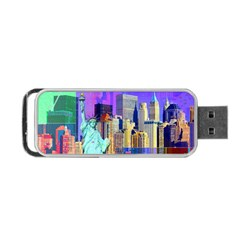 New York City The Statue Of Liberty Portable Usb Flash (two Sides)
