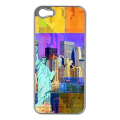 New York City The Statue Of Liberty Apple Iphone 5 Case (silver)