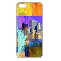 New York City The Statue Of Liberty Apple Seamless iPhone 5 Case (Clear)