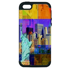 New York City The Statue Of Liberty Apple iPhone 5 Hardshell Case (PC+Silicone)