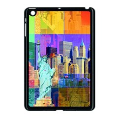 New York City The Statue Of Liberty Apple iPad Mini Case (Black)