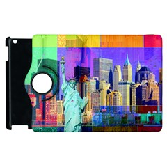New York City The Statue Of Liberty Apple Ipad 3/4 Flip 360 Case