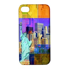 New York City The Statue Of Liberty Apple Iphone 4/4s Hardshell Case With Stand
