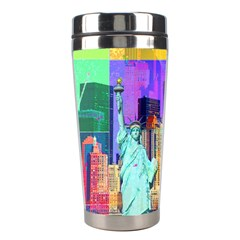 New York City The Statue Of Liberty Stainless Steel Travel Tumblers