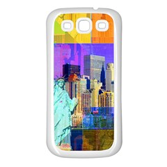 New York City The Statue Of Liberty Samsung Galaxy S3 Back Case (white)