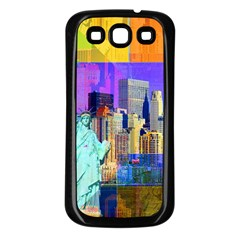 New York City The Statue Of Liberty Samsung Galaxy S3 Back Case (black)
