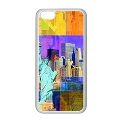 New York City The Statue Of Liberty Apple Iphone 5c Seamless Case (white)