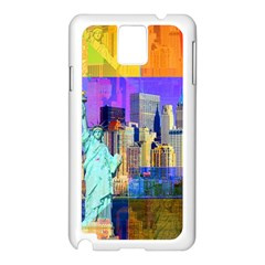 New York City The Statue Of Liberty Samsung Galaxy Note 3 N9005 Case (white)