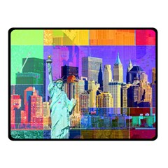 New York City The Statue Of Liberty Double Sided Fleece Blanket (Small)