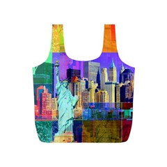 New York City The Statue Of Liberty Full Print Recycle Bags (S)