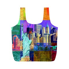 New York City The Statue Of Liberty Full Print Recycle Bags (m)