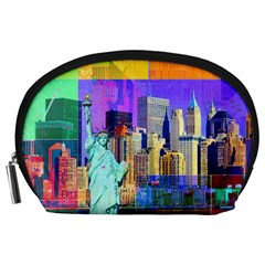 New York City The Statue Of Liberty Accessory Pouches (Large)
