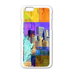 New York City The Statue Of Liberty Apple Iphone 6/6s White Enamel Case