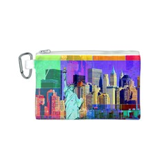 New York City The Statue Of Liberty Canvas Cosmetic Bag (s)