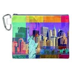 New York City The Statue Of Liberty Canvas Cosmetic Bag (xxl)