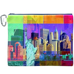 New York City The Statue Of Liberty Canvas Cosmetic Bag (xxxl)