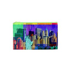 New York City The Statue Of Liberty Cosmetic Bag (xs)