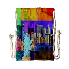New York City The Statue Of Liberty Drawstring Bag (Small)