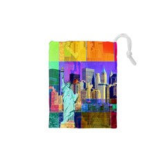 New York City The Statue Of Liberty Drawstring Pouches (xs)