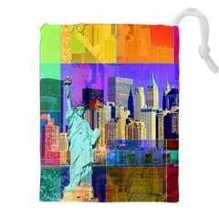 New York City The Statue Of Liberty Drawstring Pouches (xxl)