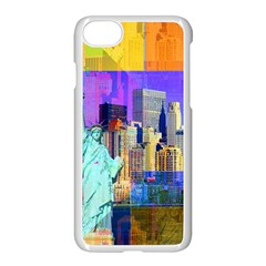 New York City The Statue Of Liberty Apple Iphone 7 Seamless Case (white)