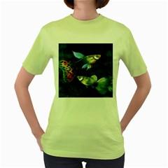 Marine Fishes Women s Green T-Shirt