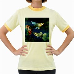 Marine Fishes Women s Fitted Ringer T-Shirts