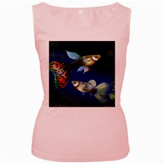 Marine Fishes Women s Pink Tank Top