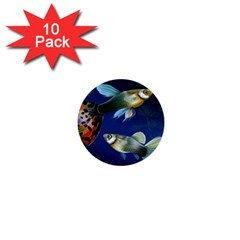 Marine Fishes 1  Mini Buttons (10 Pack)
