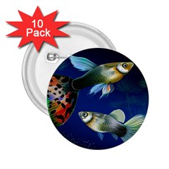 Marine Fishes 2 25  Buttons (10 Pack)