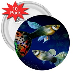 Marine Fishes 3  Buttons (10 pack)