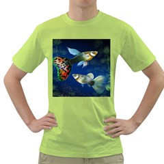 Marine Fishes Green T-Shirt