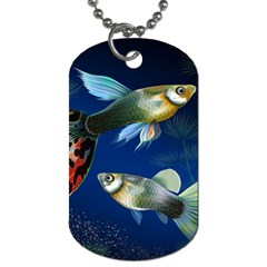 Marine Fishes Dog Tag (one Side)