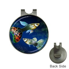 Marine Fishes Hat Clips with Golf Markers