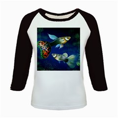 Marine Fishes Kids Baseball Jerseys