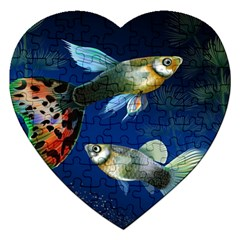 Marine Fishes Jigsaw Puzzle (Heart)