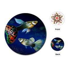 Marine Fishes Playing Cards (Round)