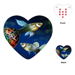 Marine Fishes Playing Cards (heart)