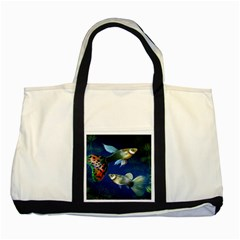 Marine Fishes Two Tone Tote Bag