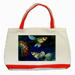 Marine Fishes Classic Tote Bag (red)