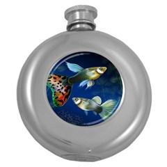 Marine Fishes Round Hip Flask (5 Oz)