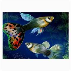 Marine Fishes Large Glasses Cloth (2-Side)