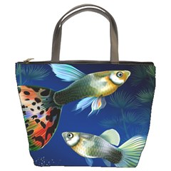 Marine Fishes Bucket Bags