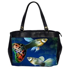 Marine Fishes Office Handbags (2 Sides)
