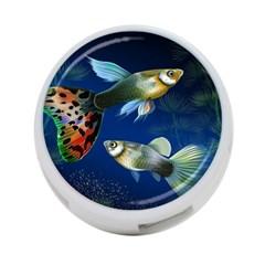 Marine Fishes 4-Port USB Hub (Two Sides)